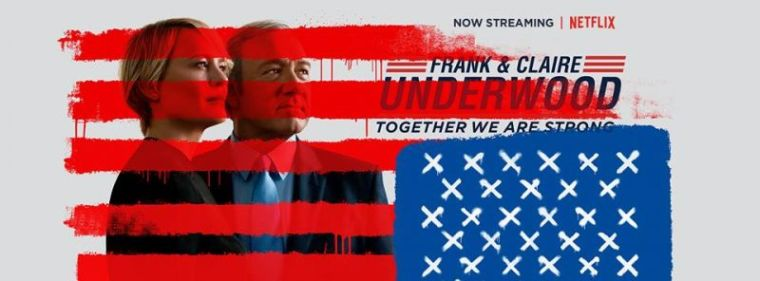 A promotional photo for Netflix's political drama series 'House of Cards.'