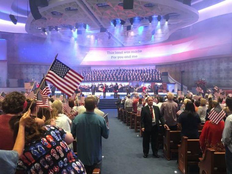 Freedom Sunday worship service