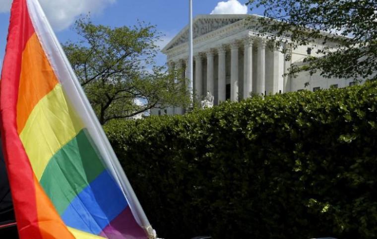 supreme court, rainbow flag