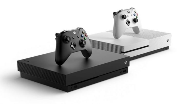 A promotional photo of the Xbox One X published in Xbox's official website.
