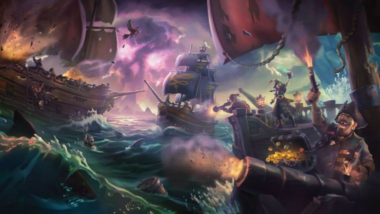 """A promotional photo of the video game """"Sea of Thieves."""""""