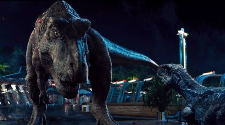 A promotional photo of the movie 'Jurassic World.'