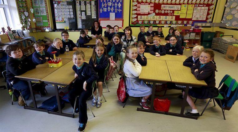 British school children