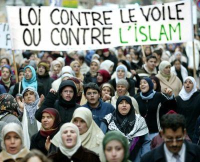 Muslim women's rally in France