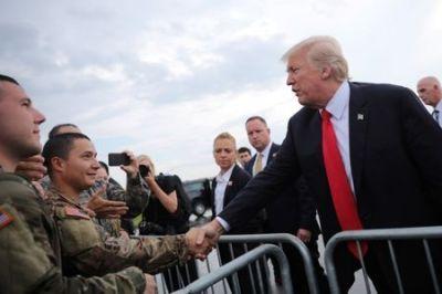 trump, military