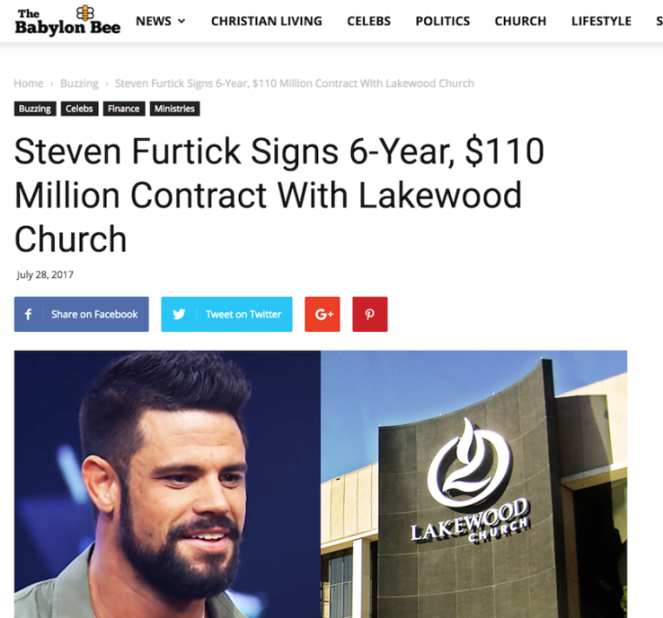 Steven Furtick NOT Leaving Elevation Church to Join Joel Osteen