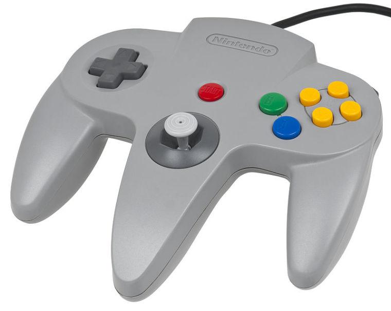 The original Nintendo 64 controller