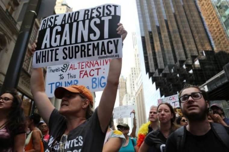 protest trump, white supremacy