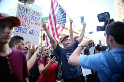 protest trump rally