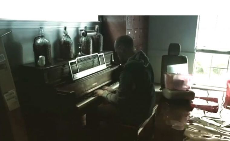 Piano in Flooded Home