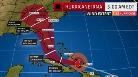 Florida Map Hurricane Irma Hurricane Irma Tracker: Projected Path Map; Florida Braces for