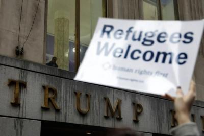 refugee ban protest