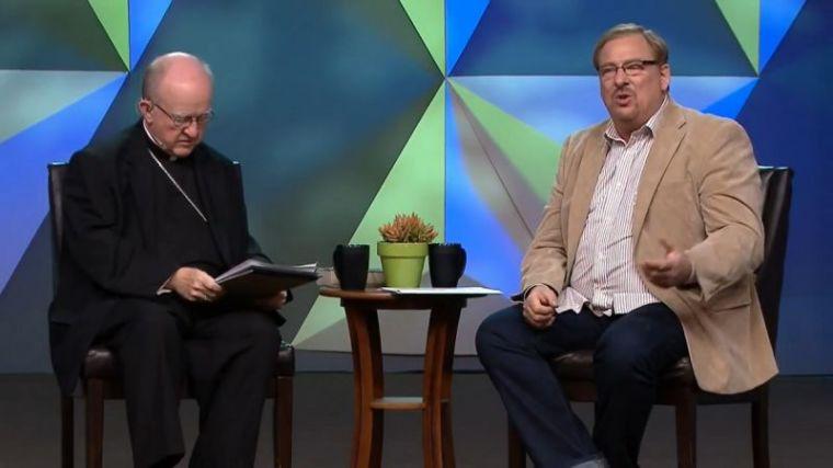 Kevin Vann (L) and Rick Warren