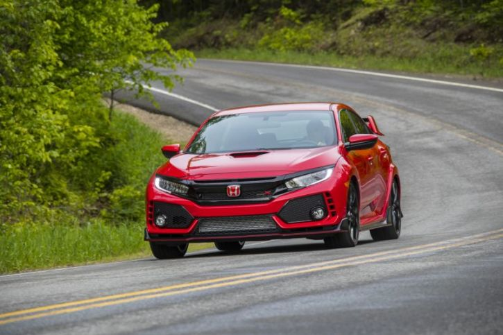 A Promotional Image For The 2018 Honda Civic Type R