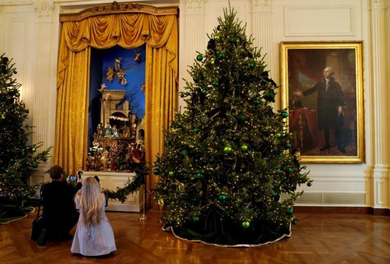 Trump White House Christmas.Melania Trump Reveals Theme Of First White House Christmas