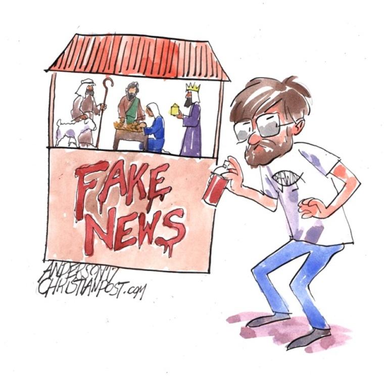 Atheists Call the Nativity 'Fake News'