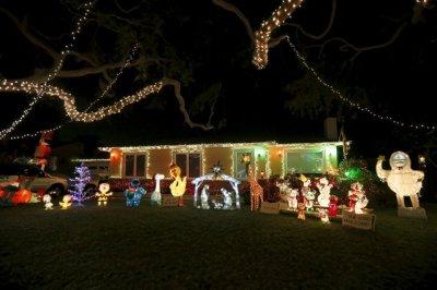 nativity, christmas lights