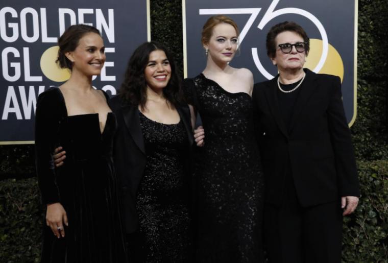 golden globes, Natalie Portman, America Ferrera, Emma Stone, Billie Jean King