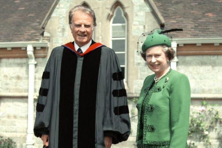 Billy Graham with Queen Elizabeth II