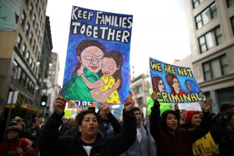 migrant protests