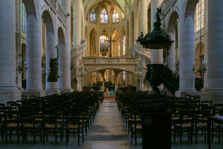 The Église Saint-Étienne-du-Mont in Paris