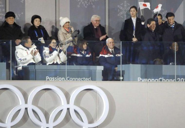 Mike Pence and Kim Yo-Jong