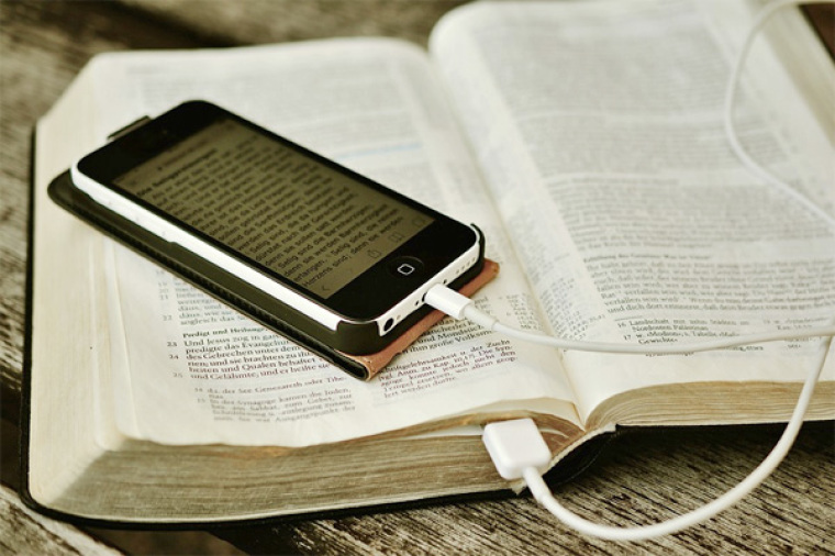 Bible and Mobile Phone
