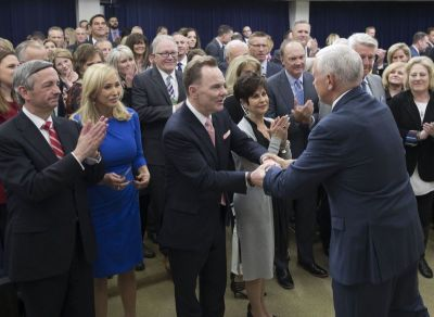 Mike Pence and evangelical megachurch leaders