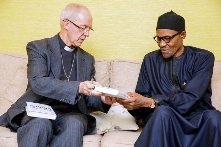 Justin Welby and Muhammadu Buhari