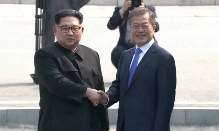 Kim Jong-un, Moon Jae-in, North Korea, South Korea