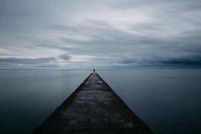 person, alone, landscape, lonely