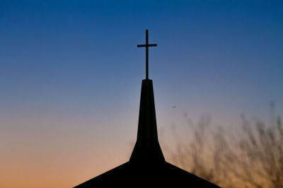 steeple, church, cross