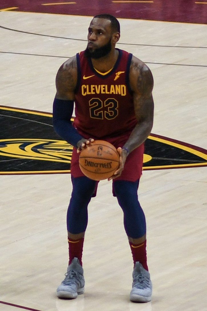 4ef2b7ce643f LeBron James playing for the Cleveland Cavaliers during a February 2018 game