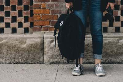 student, backpack