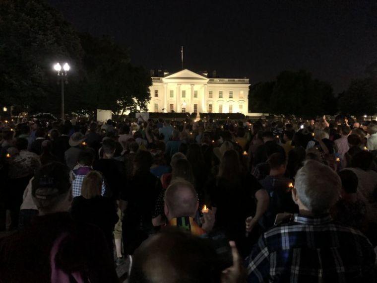 Reclaiming Jesus candlelight vigil