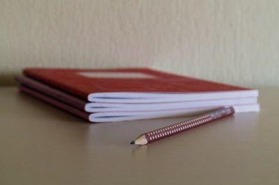 pencil, notebooks, school, desk