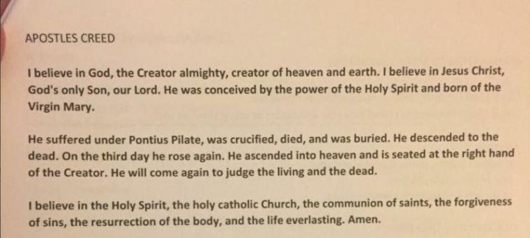 Edited Apostles' Creed