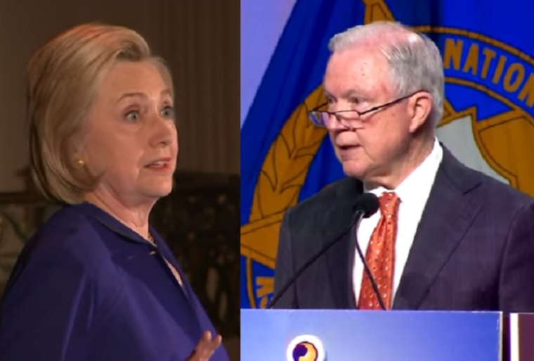 Hillary Clinton, Jeff Sessions