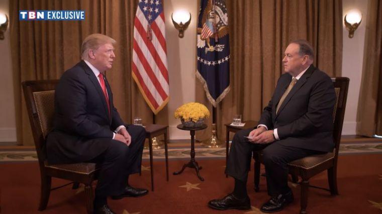 Mike Huckabee Interviews Trump