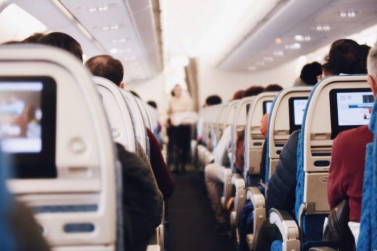 Interior of a plane
