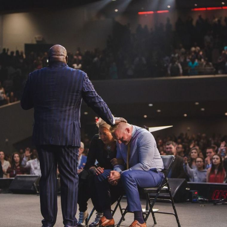 Bishop T.D. Jakes, Ron Carpenter, Hope Carpenter