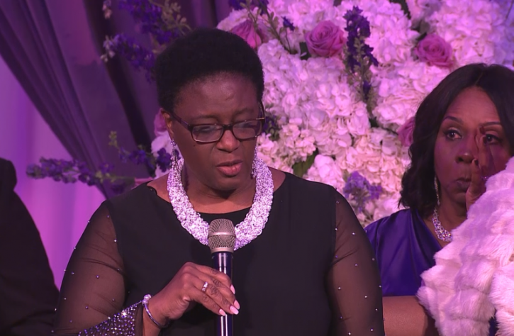 Serita Jakes Weeps With Mother of Botham Jean as Potter's House