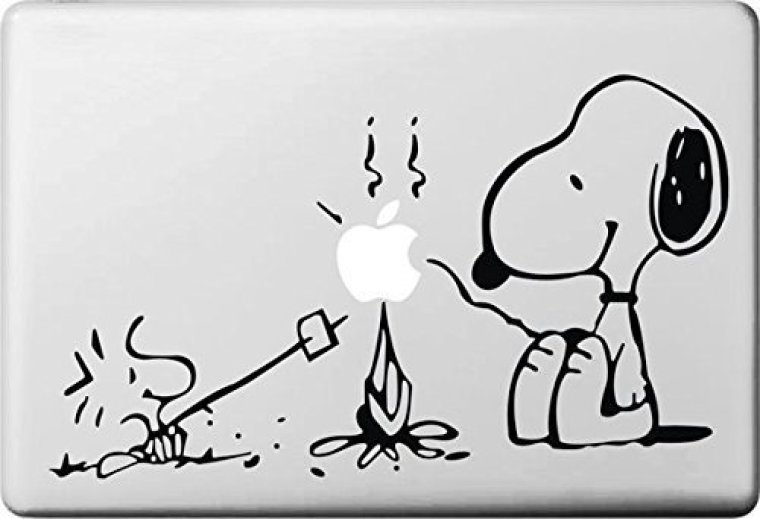 Snoopy Woodstock roasting marchmallows