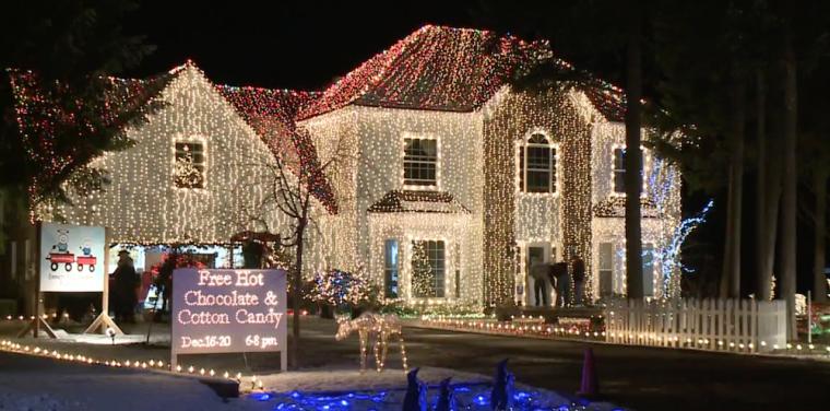 Morris family Christmas display
