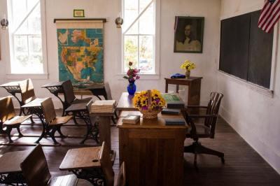 classroom, school, desks