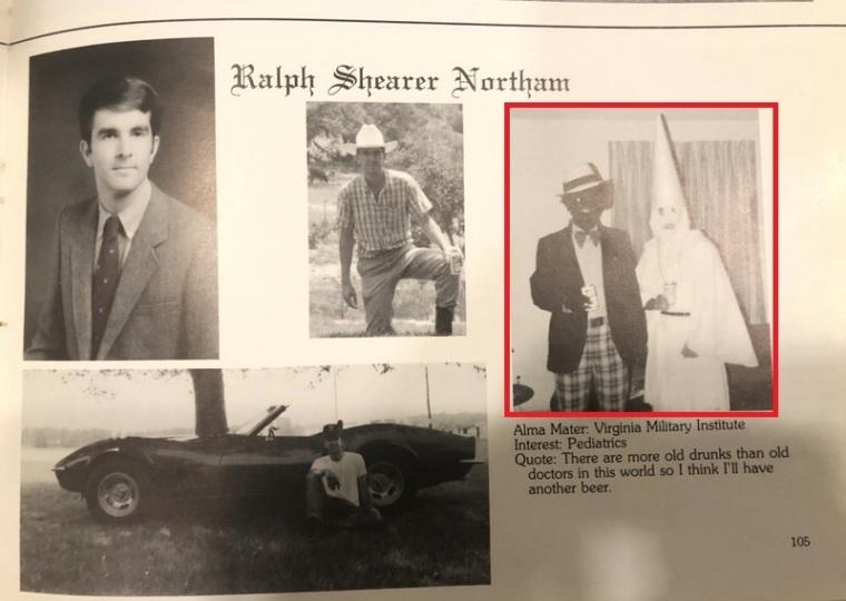 Ralph Northam, Yearbook