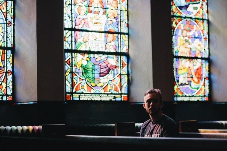 Man in church.
