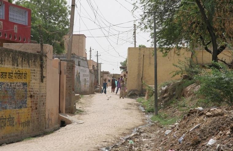 India village street