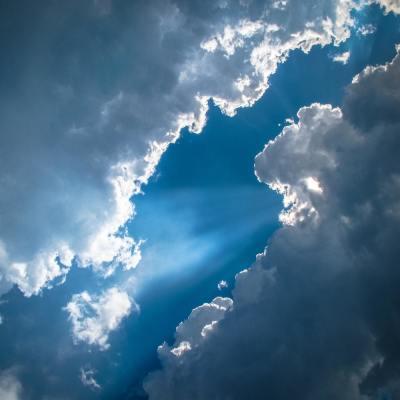 sky, clouds, sun