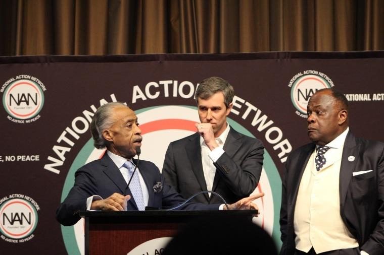 Beto O'Rourke, Al Sharpton, Rev. Dr. W. Franklyn Richardson